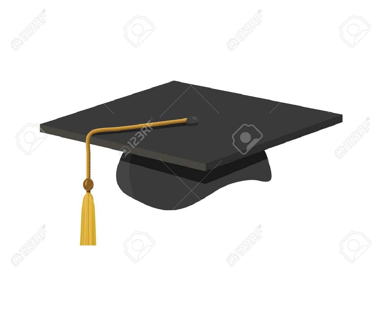 Foto de archivo , un gorro de graduación (Junta de mortero) con tassle
