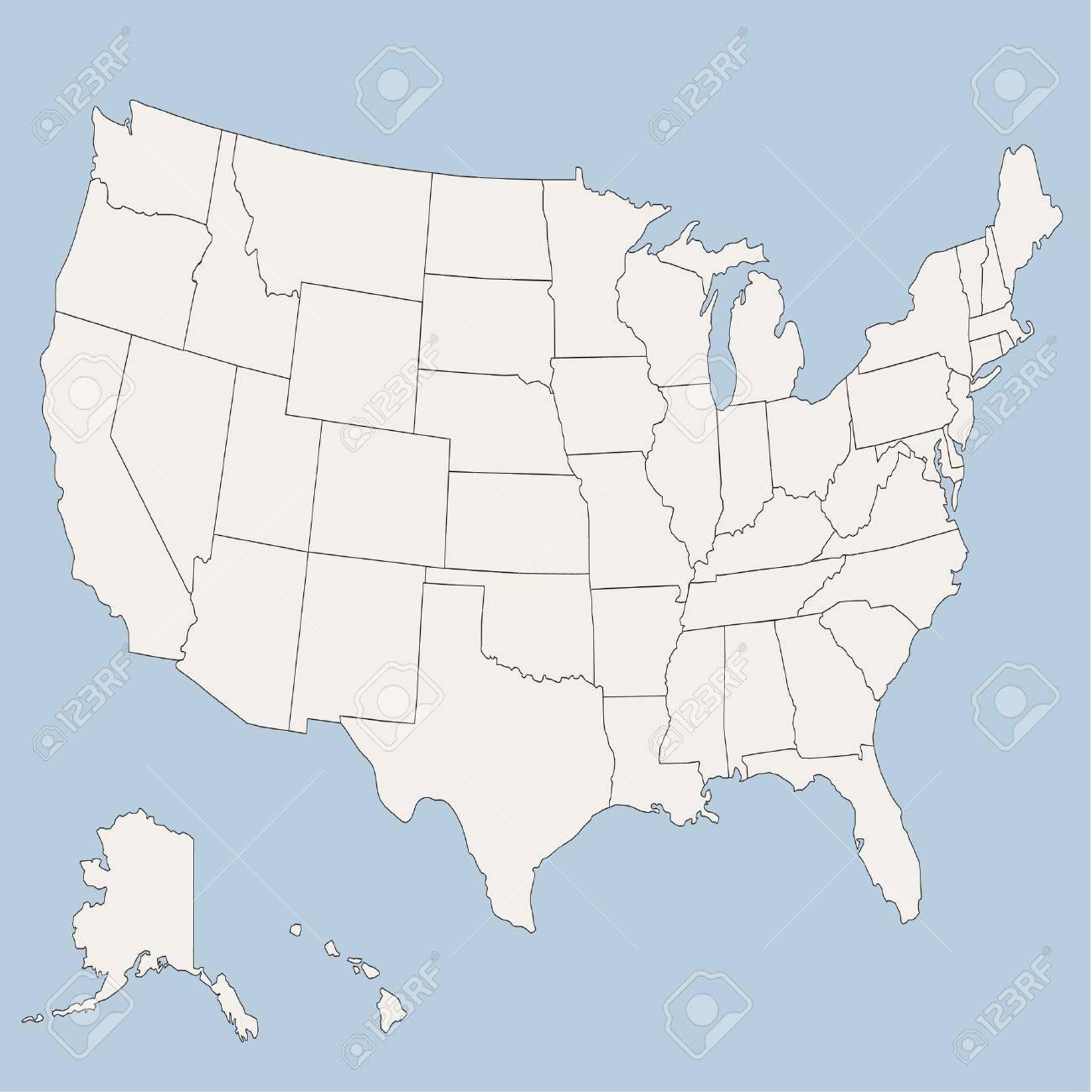 Mapa De Los Estados Unidos De America Ilustraciones Vectoriales