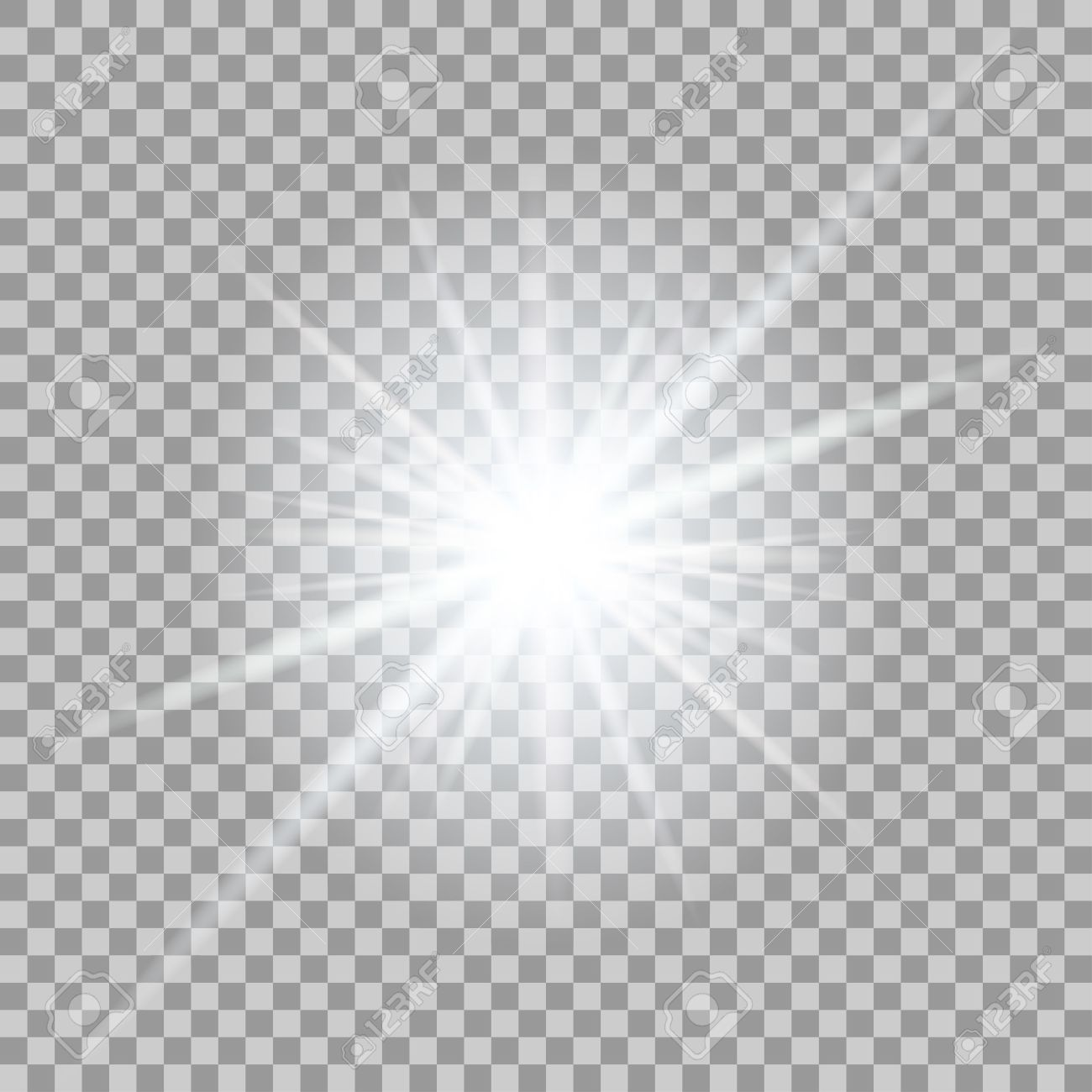 vector glowing light effect on transparent background royalty free