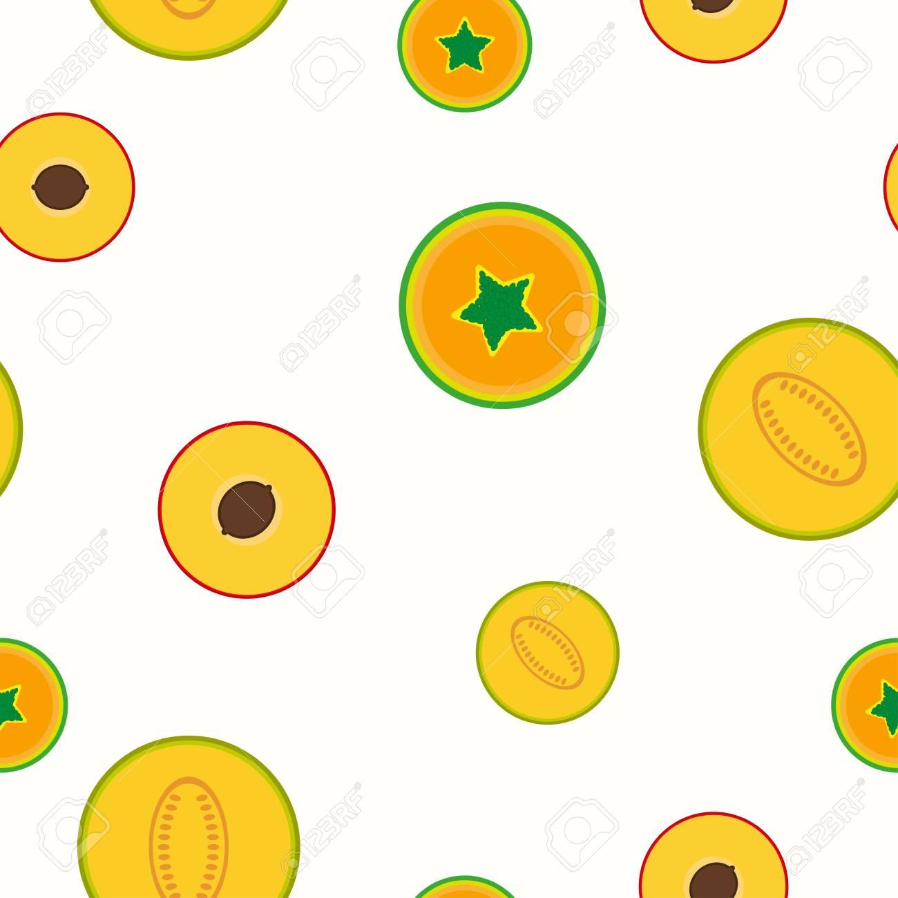 簡単な果物のパターン シームレスなベクトルの背景トロピカル