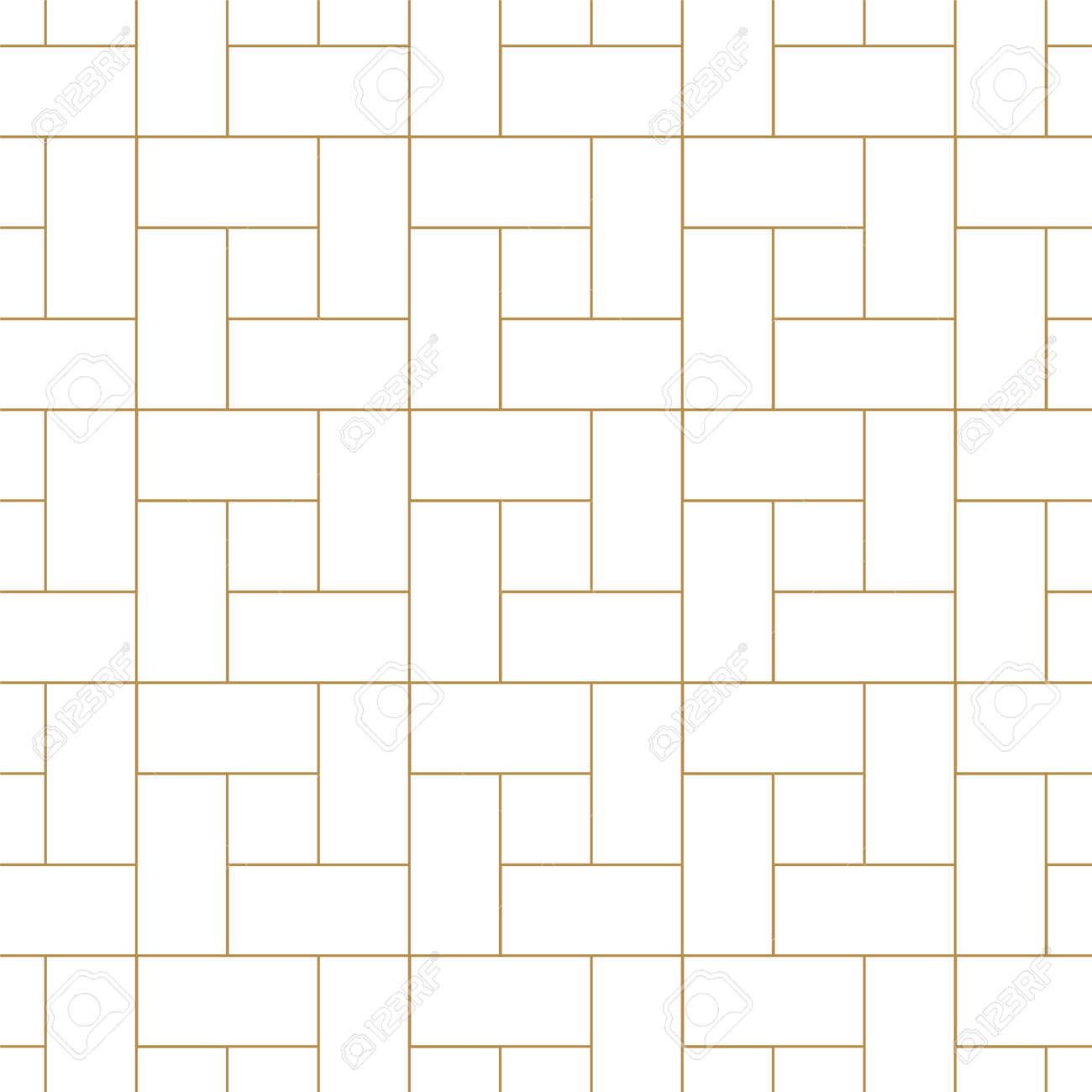 Vector seamless geometric outline simple pattern. Thin grid linear texture. Abstract minimalistic repeatable background. - 151872657