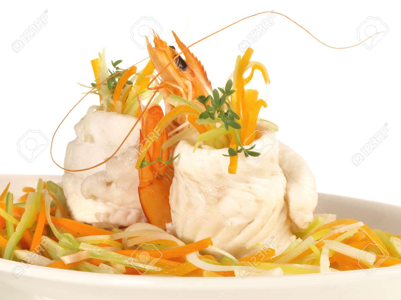 Sole Fillet Rolls - Flatfish on white background - 165075569