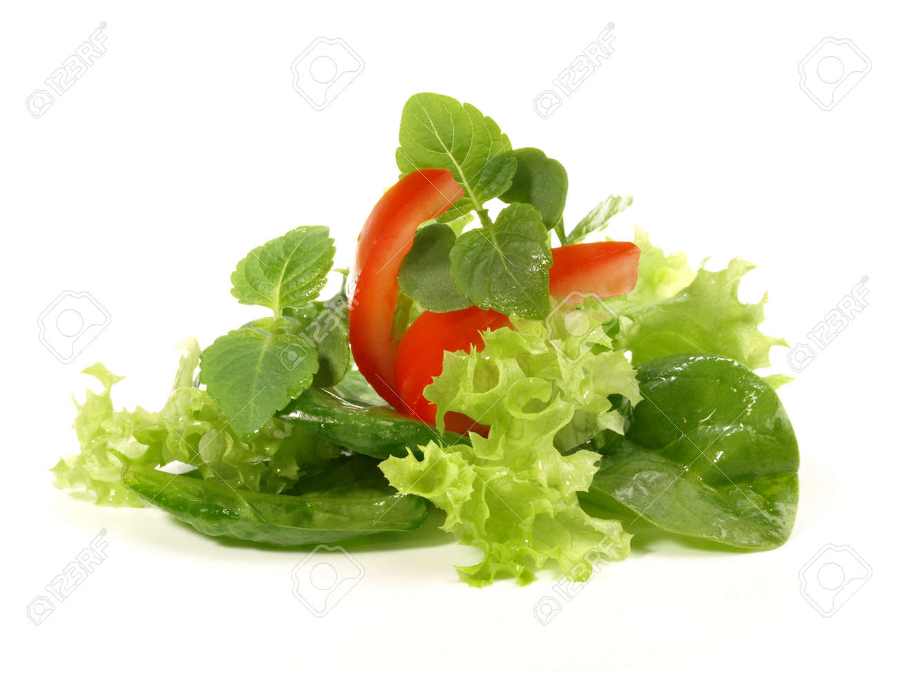 Mixed salad bouquet isolated on white background - 165230766