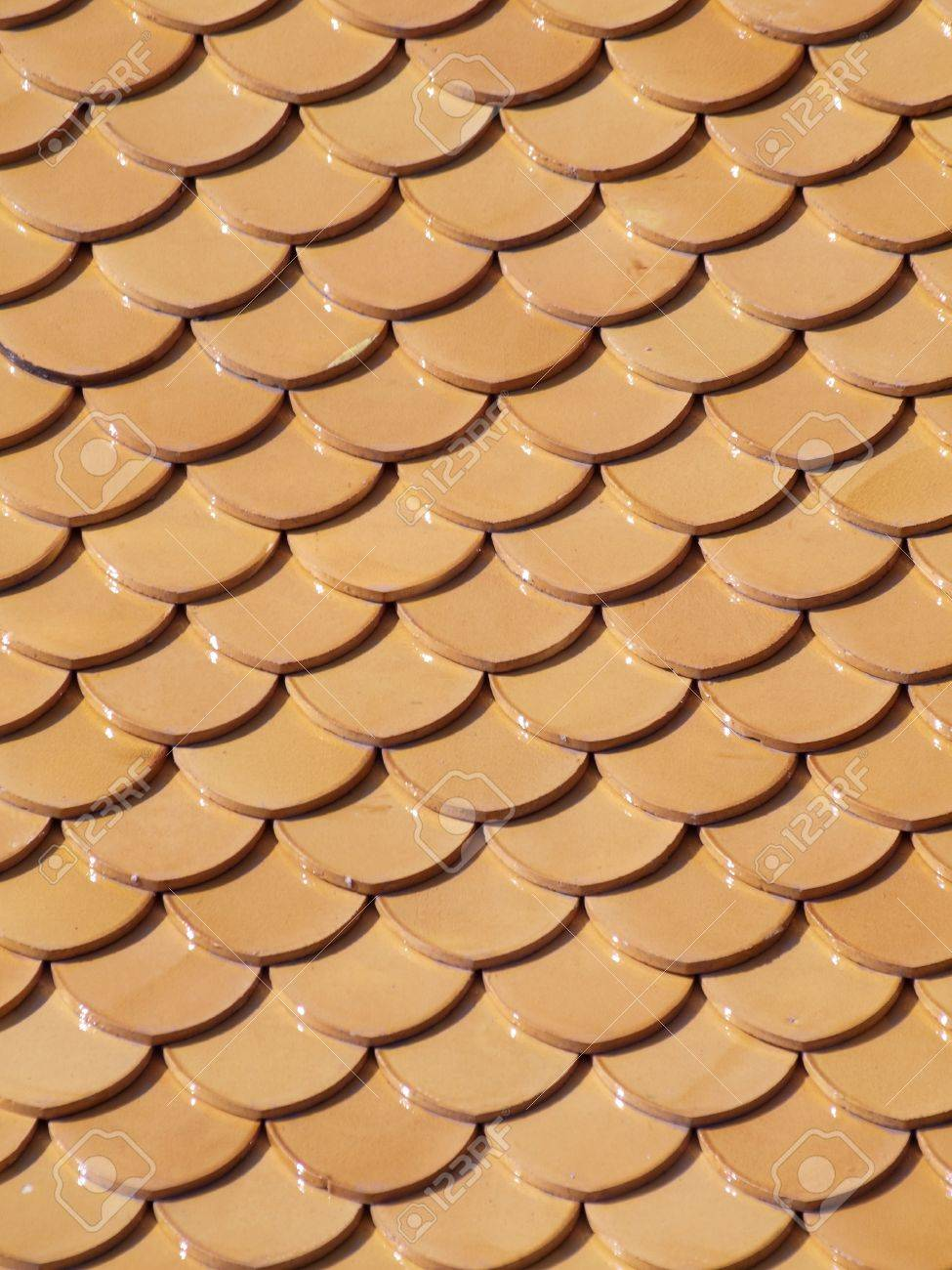 Beautiful Tidiness Of Curved Roof Tile Pattern Stock Photo, Picture ...