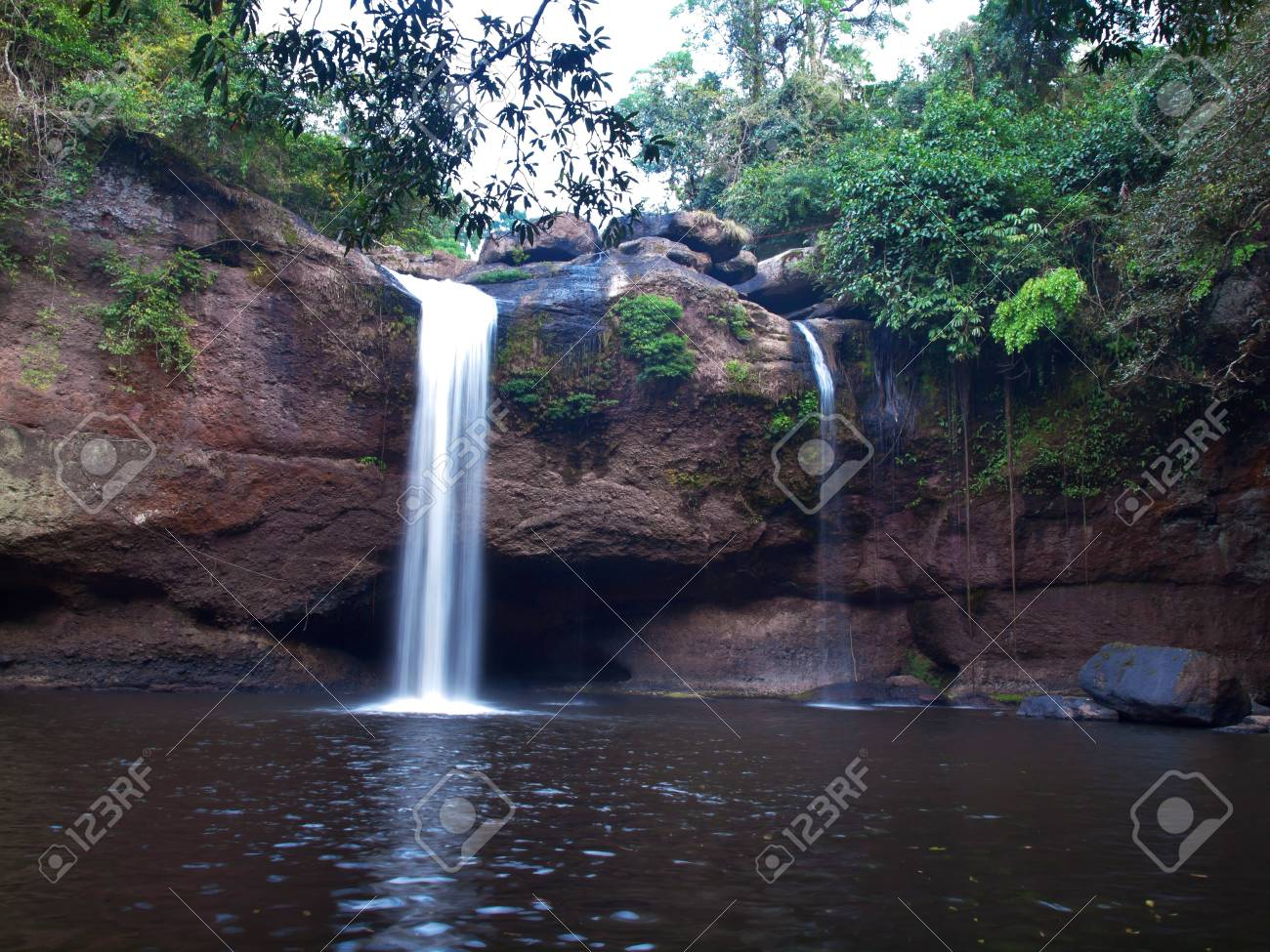 Haew Suwat Waterfall, Khao Yai National Park, Nakhon Nayok, Thailand  This national park. Stock Photo - 17983547