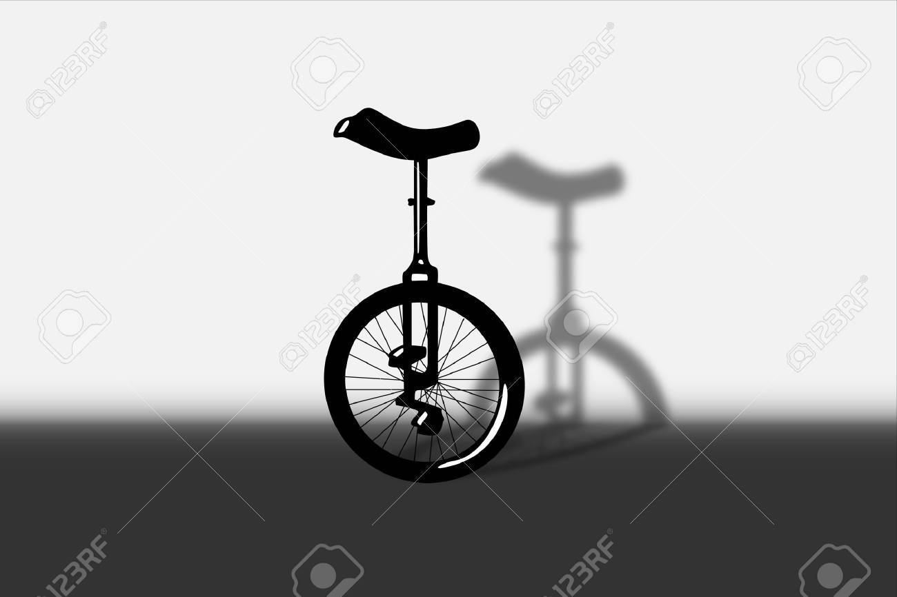 Illustration of portrait of unicycle Stock Vector - 21775913