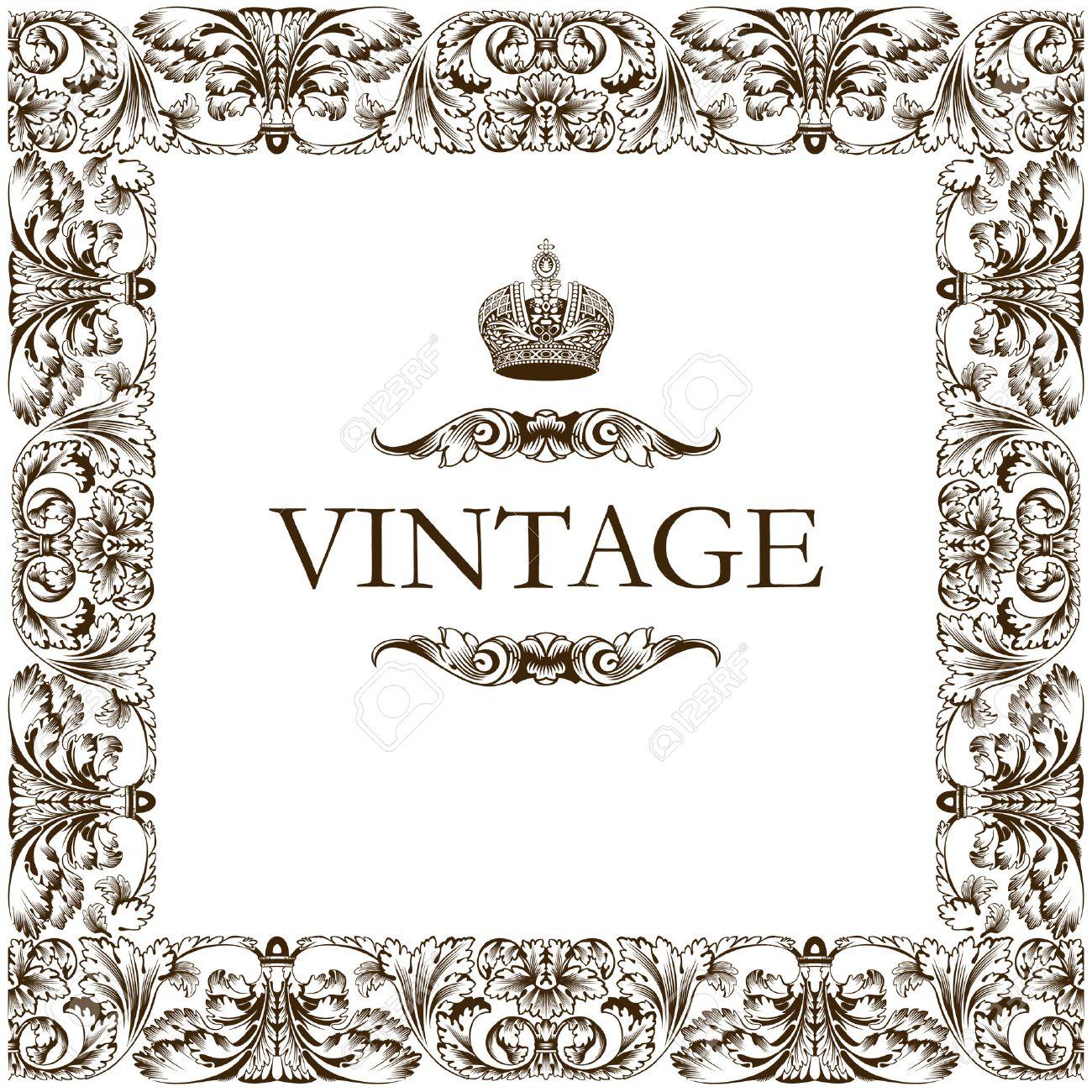 Vintage frame decor ornament vector Stock Vector - 6079297