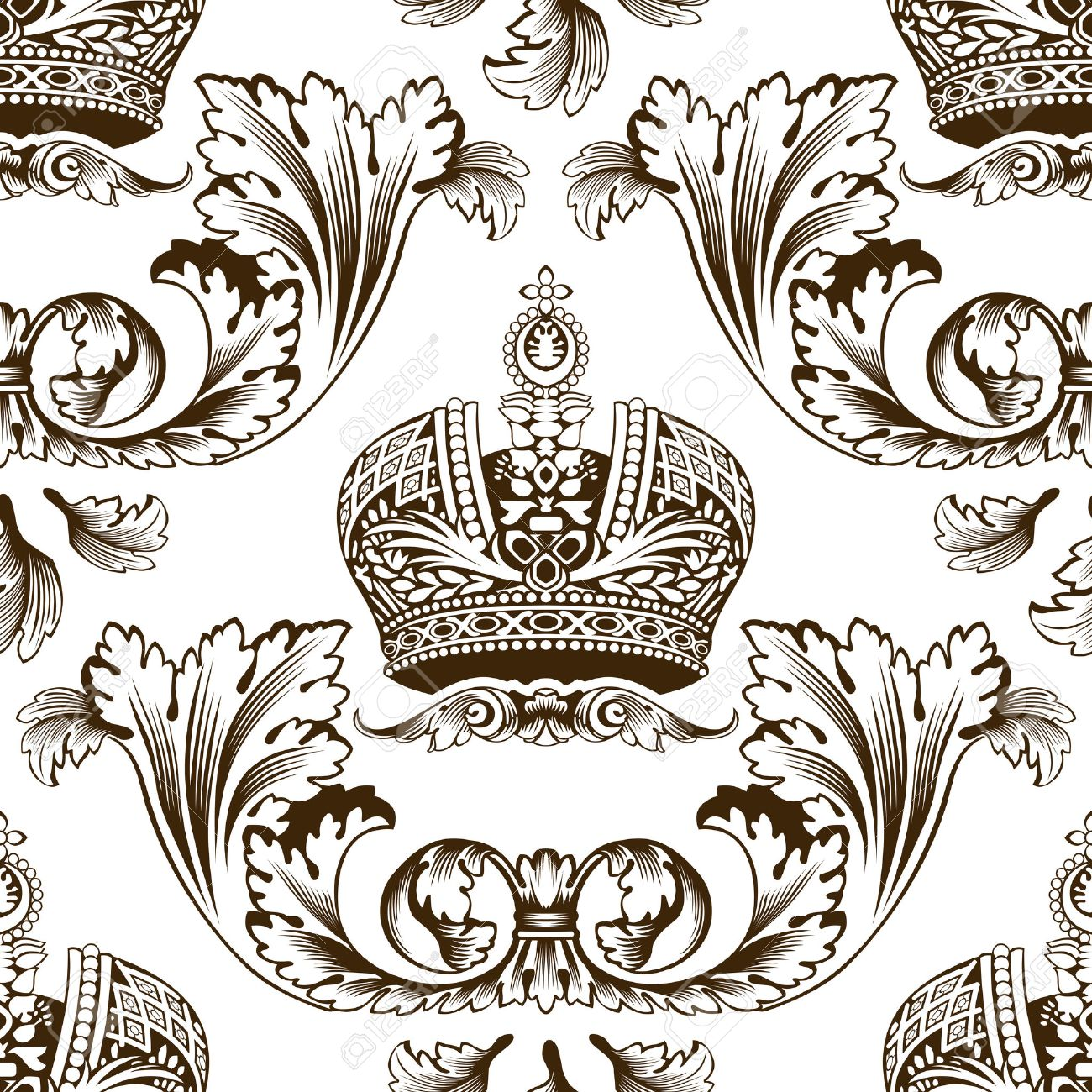 New seamless decor imperial ornament. Vector illustration Stock Vector - 6079279