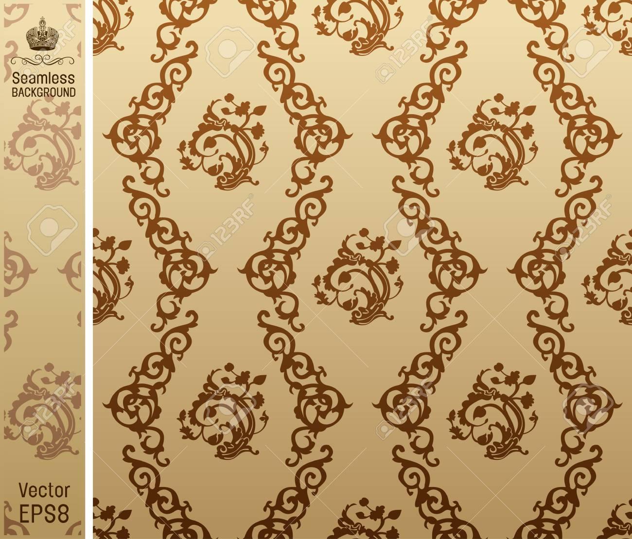 seamless vintage background floral Pattern. Vecor illustration Stock Vector - 7997843
