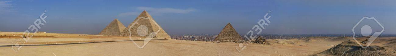 panorama egypt pyramid giza cairo Stock Photo - 7998734