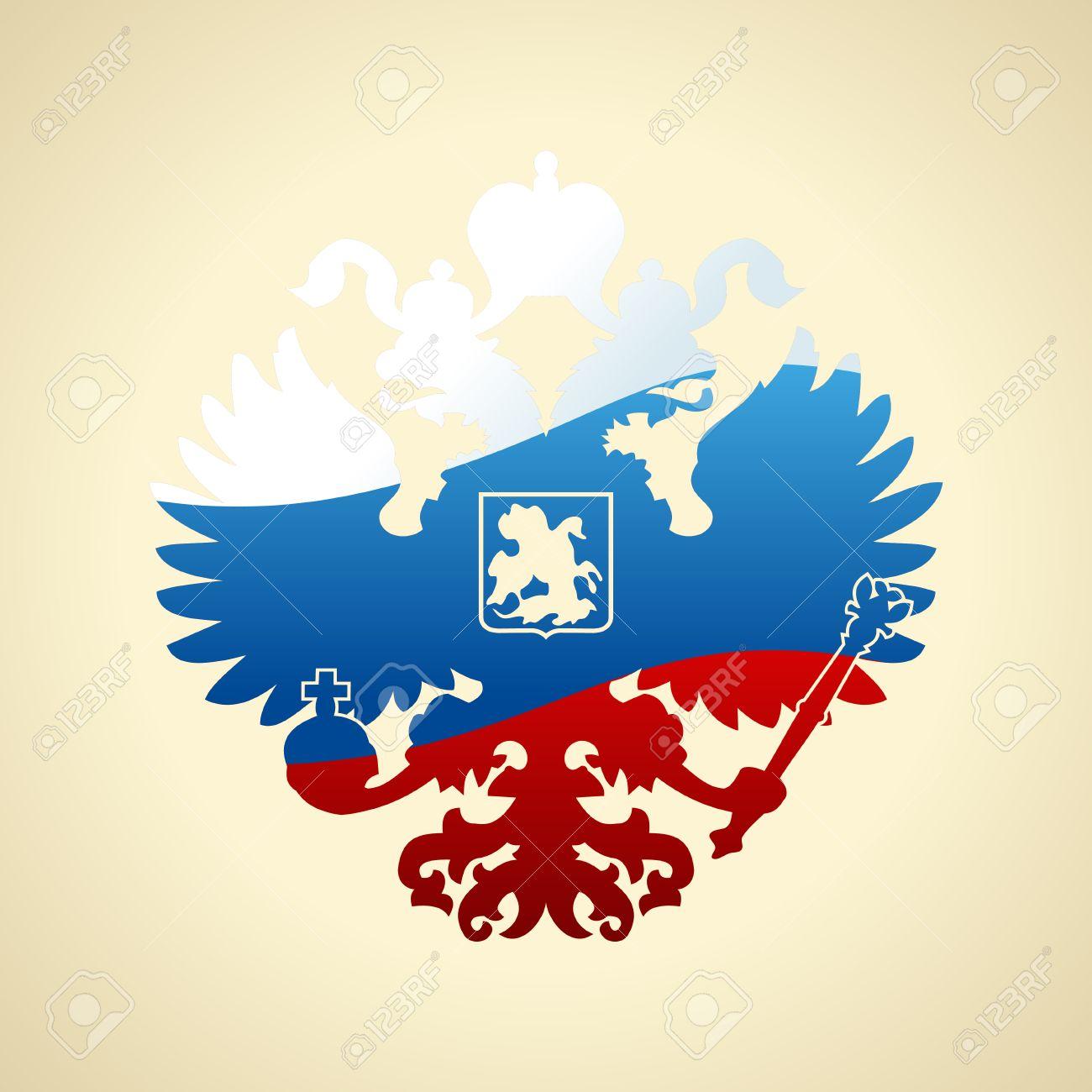 Umrissenes Wappen Von Russland Vektor Abbildung - Bild: 85442872