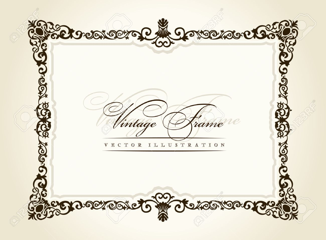 Vector Vintage Frame Retro Decor Ornament Old Royalty Free Cliparts ...