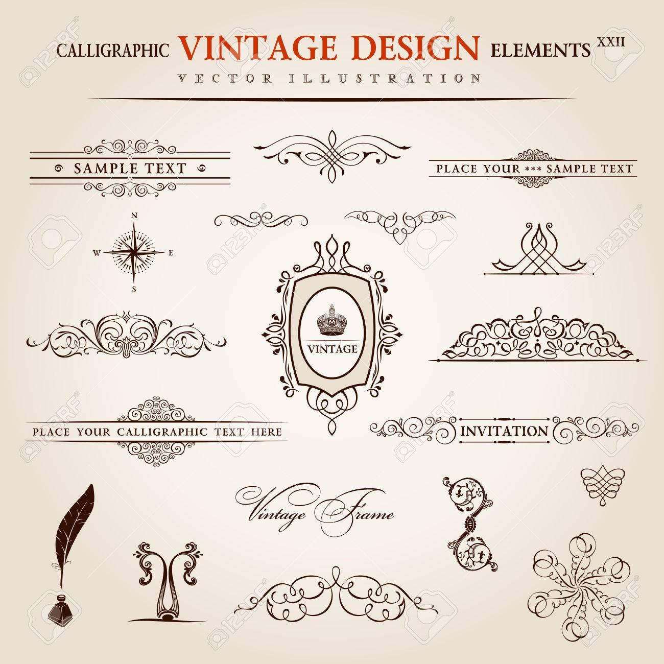 Vettoriale Vector Set Elementi Vintage Calligrafici E Decorazione Di Pagina Di Raccolta Di Qualita Premium Disegno Floreale Image 40344960