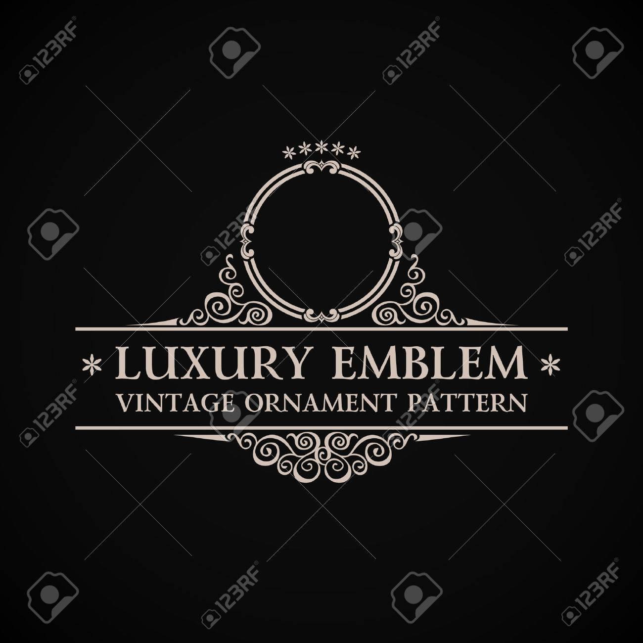 Vintage vector logo. Calligraphic elegant decor element ornament - 40911787