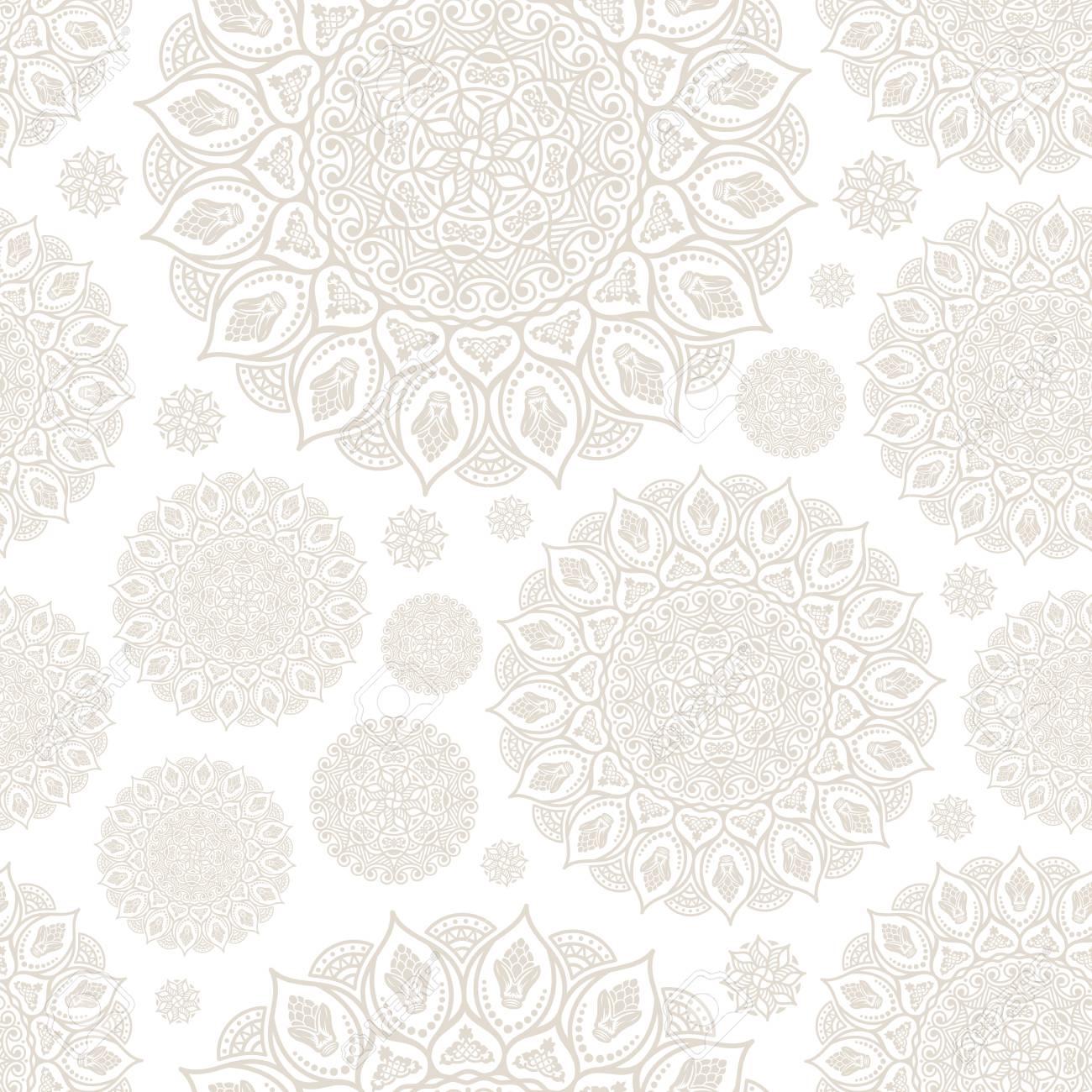 Patrón Sin Costuras Elementos Decorativos Vintage. Dibujado A Mano ...