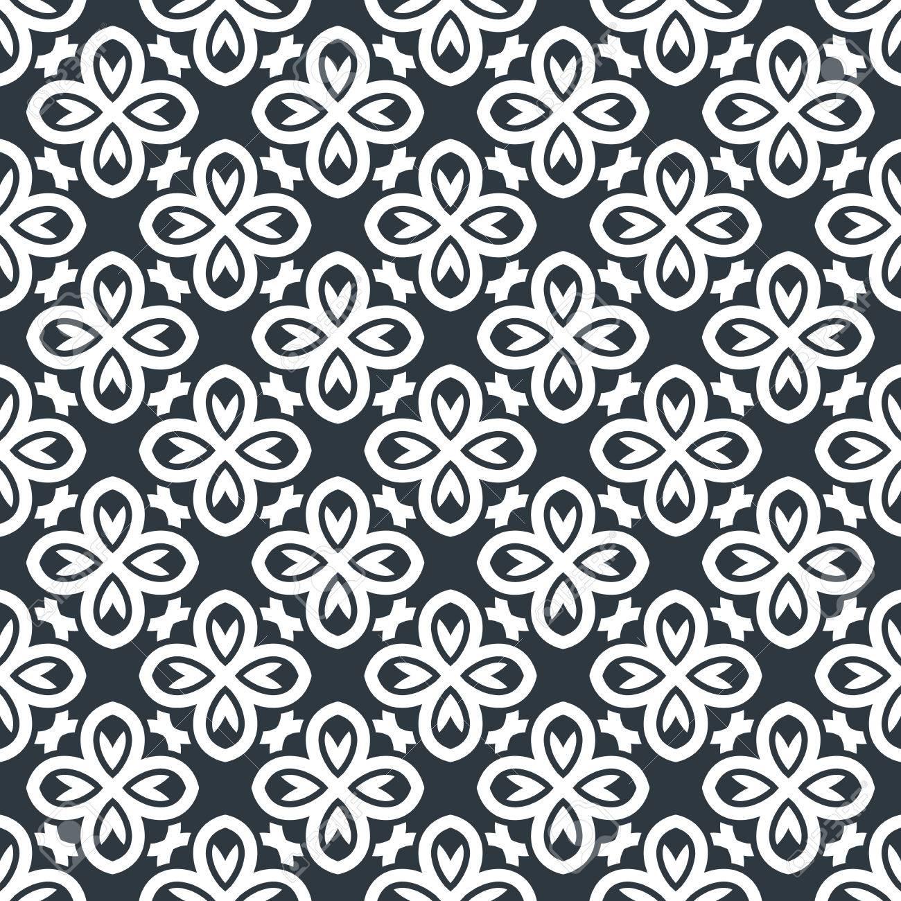 nahtlose hintergrund im arabischen stil schwarz wei tapete mit muster fr design - Tapete Schwarz Weis Muster