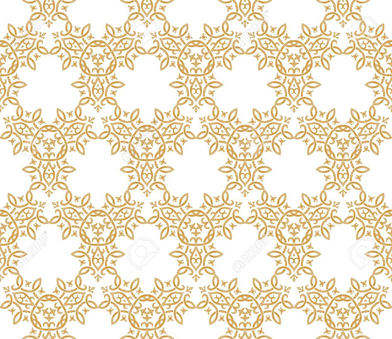 Arriere Plan Transparent Dans Le Style Arabe Or Papier Peint Blanc