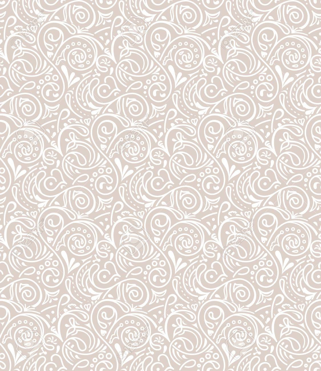 Seamless Floral Tile Background Pattern In Vector Henna Paisley