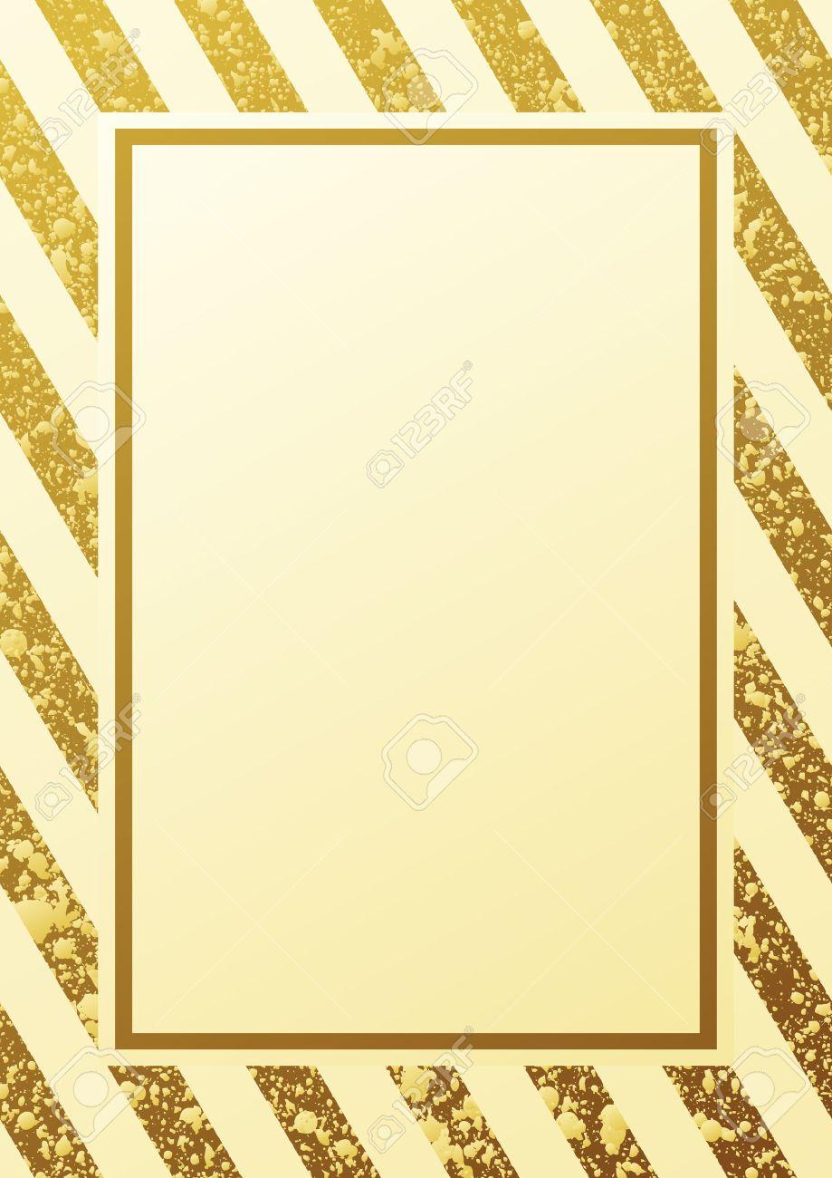 Hermosa Marco Del Oro Bosquejo - Ideas Personalizadas de Marco de ...