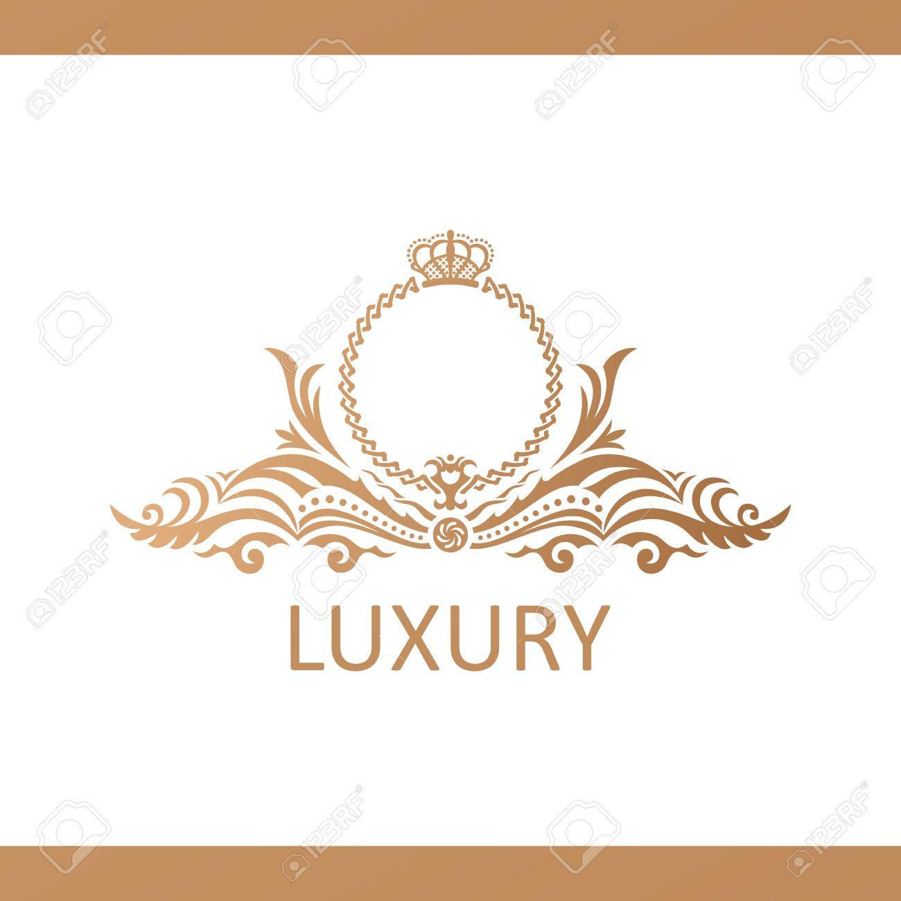 Calligraphic luxury line logo template flourishes calligraphic calligraphic luxury line logo template flourishes calligraphic elegant emblem royal logo design gold stopboris Images