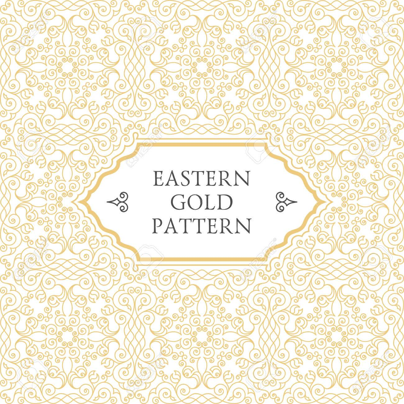 Eastern gold frame arabic vector lines design templates muslim eastern gold frame arabic vector lines design templates muslim eastern floral frame for card and stopboris Choice Image