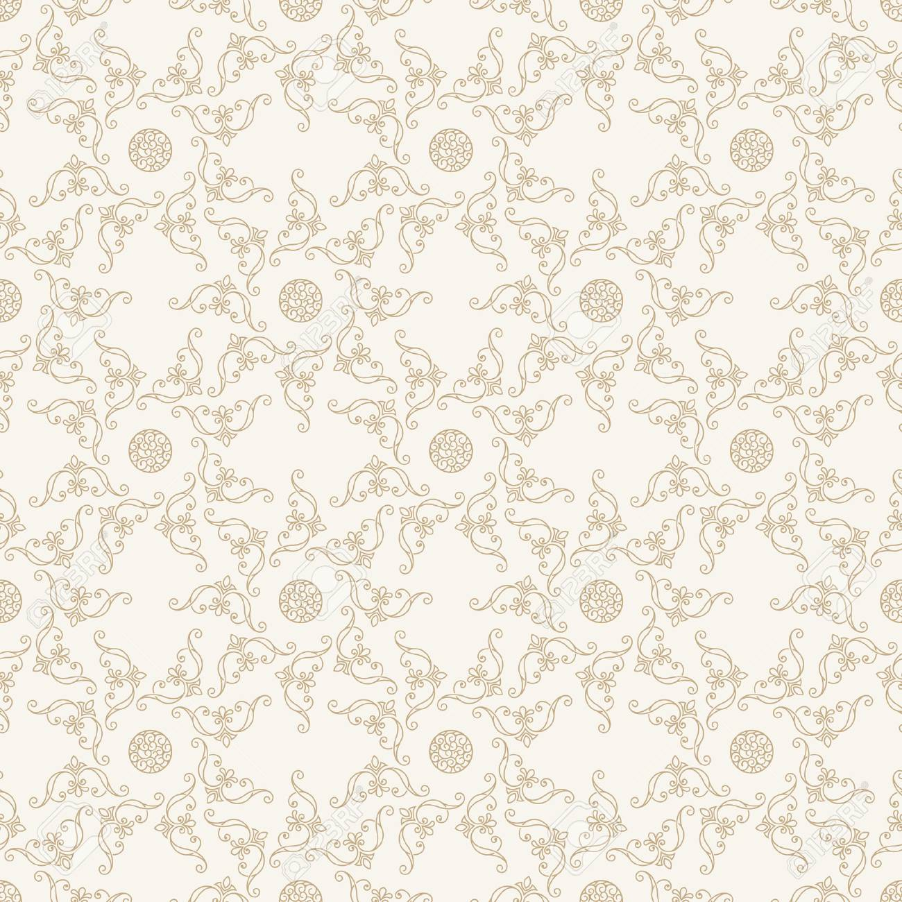 Seamless Islam Pattern. Vintage Floral Background. Vector Islamic Royal  Gold Pattern. Oriental Design