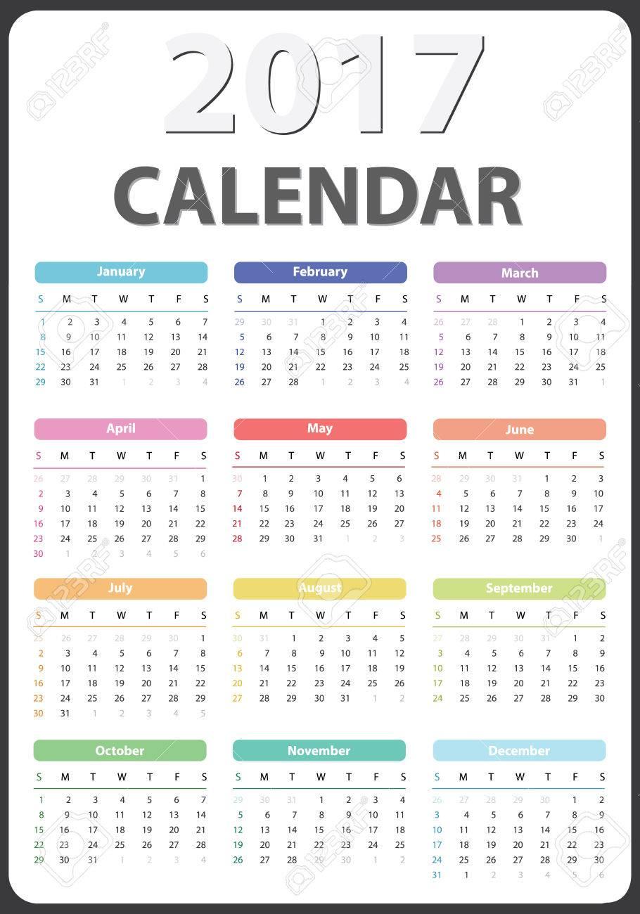 Calendar For 2017 Starts Sunday Calendar 2017 Organizer 2017
