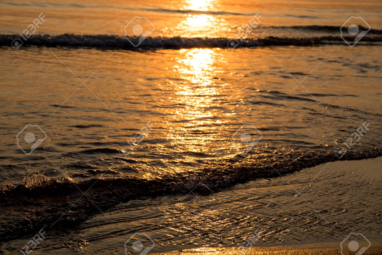 abstract sand beach background sunset at Pattaya in Thailand
