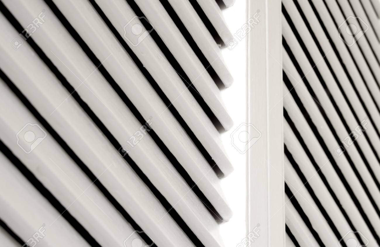 White Shutter Closet Door Detail For Background With Copy Space ...