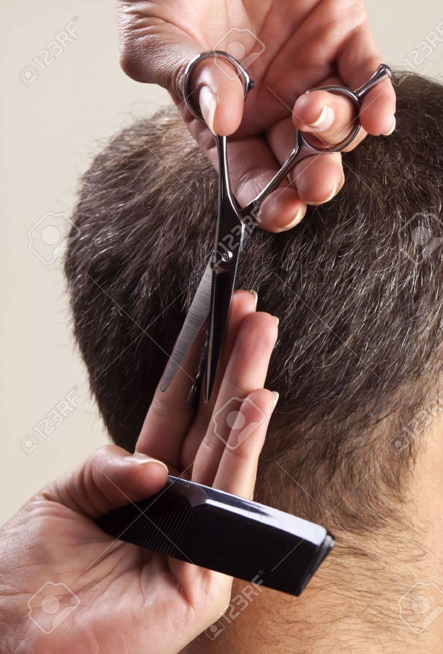 Getting Haircuts Haircut Man Getting a Haircut