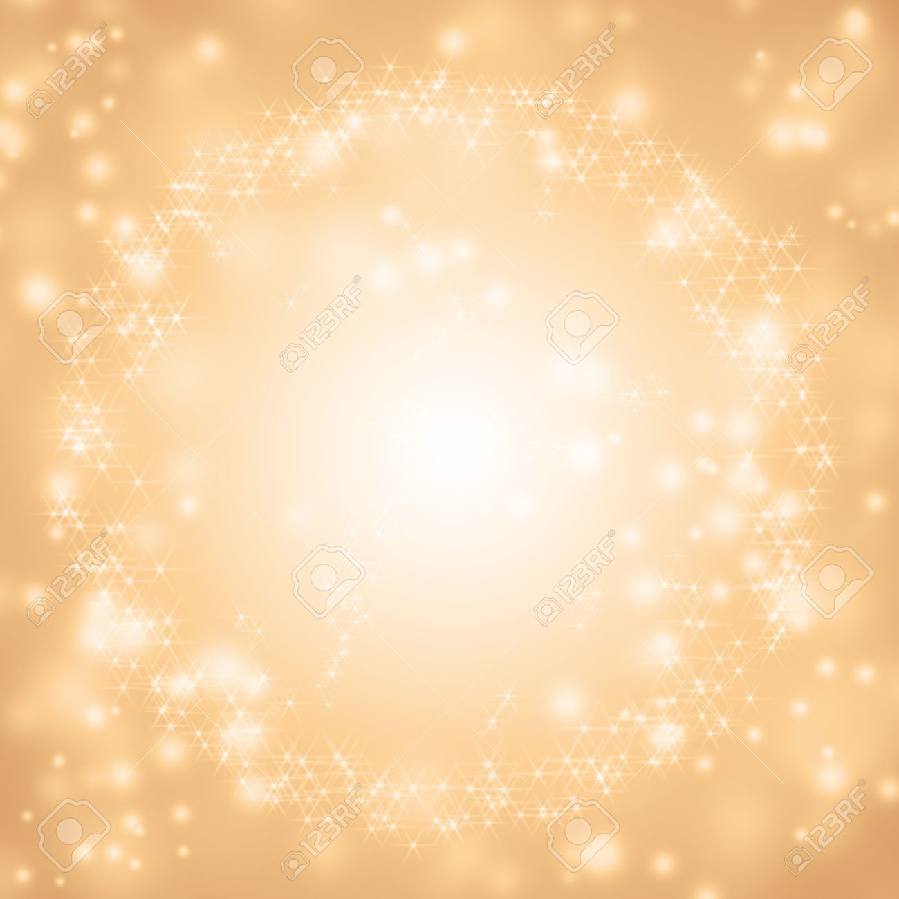 Sparkling Gold Seasonal Holiday Background With White Lights Stock ...