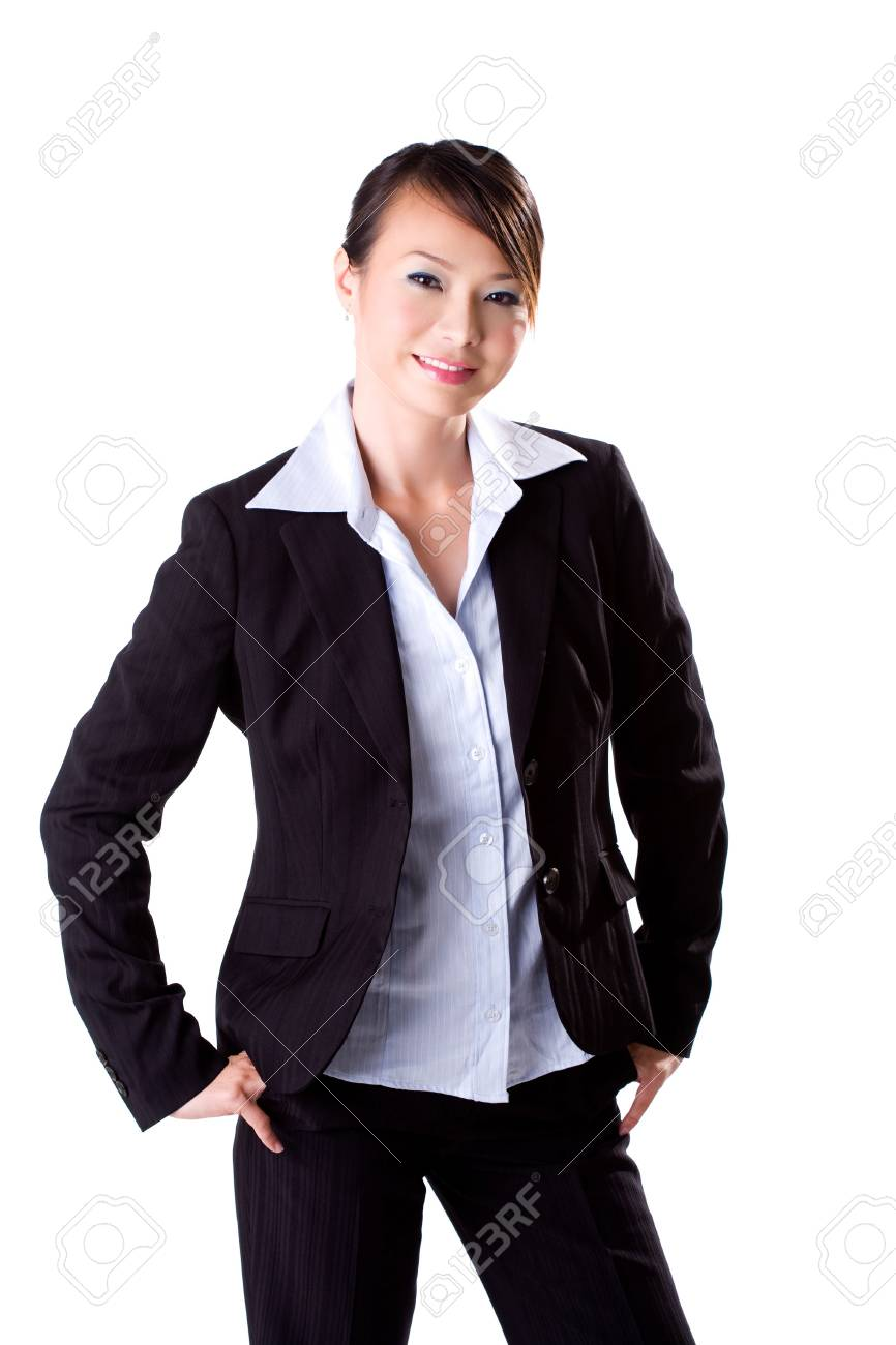 businesswoman with a big friendly smile Stock Photo - 2066118