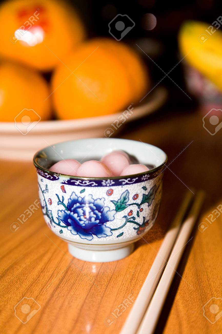 traditional sweet chinese glutinous rice ball for special occasion Stock Photo - 3605962
