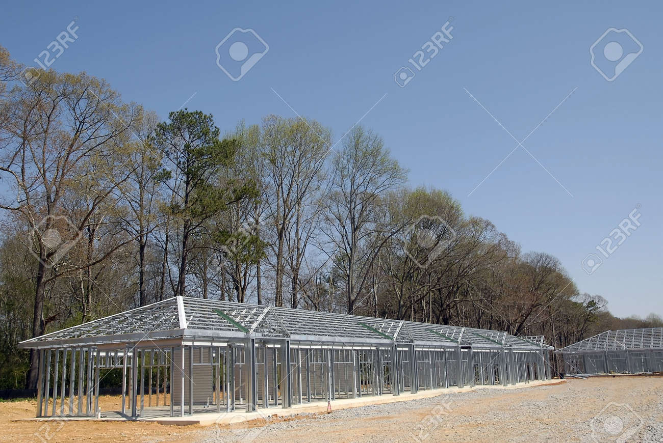 Self Storage Building Construction Stock Photo - 1104867