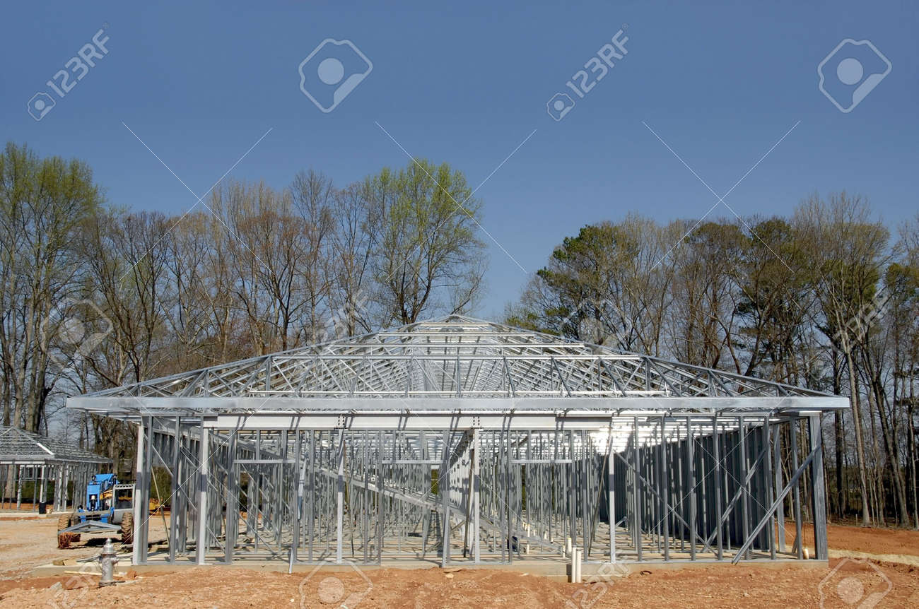 Self Storage Building Construction Stock Photo - 1104899