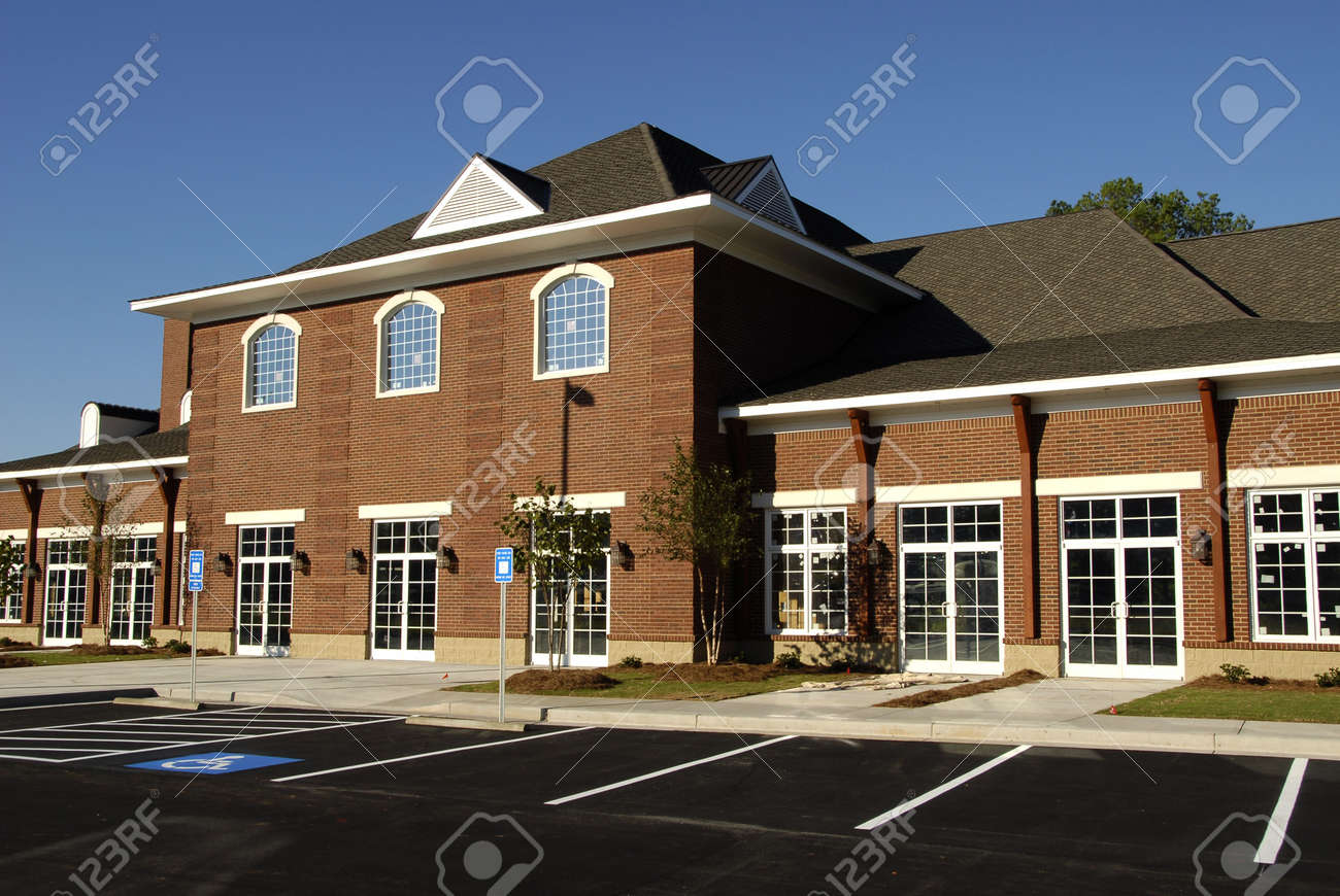 Commercial building with retail, medical and office space Stock Photo - 1978188