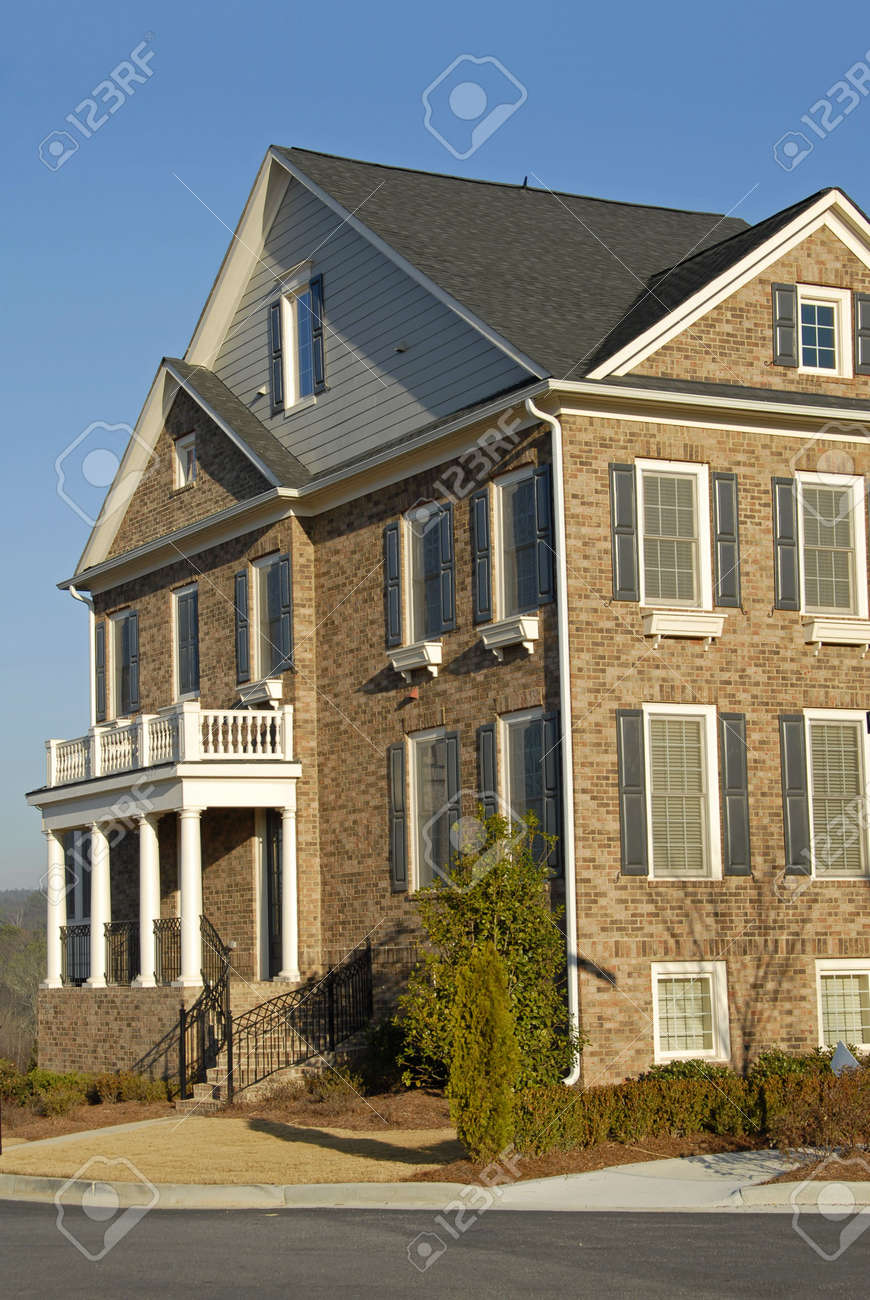 Newly Constructed Luxury Townhouse for Sale Stock Photo - 2388323