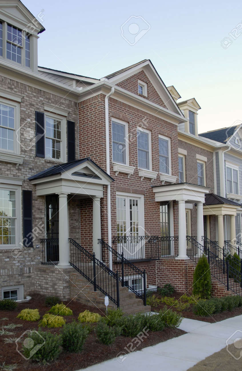 New Luxury Townhouses For Sale Stock Photo - 2406705