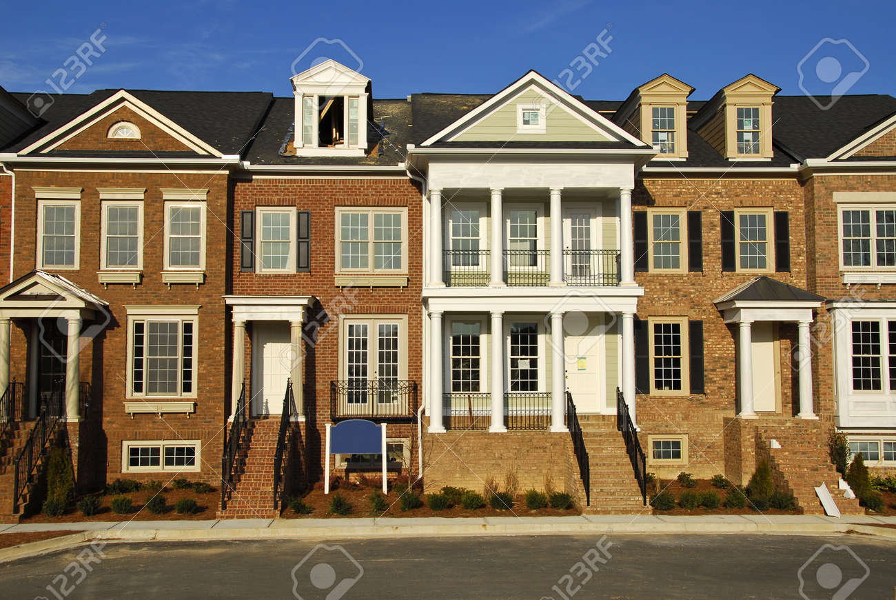 New Townhouses under Construction Stock Photo - 3661475