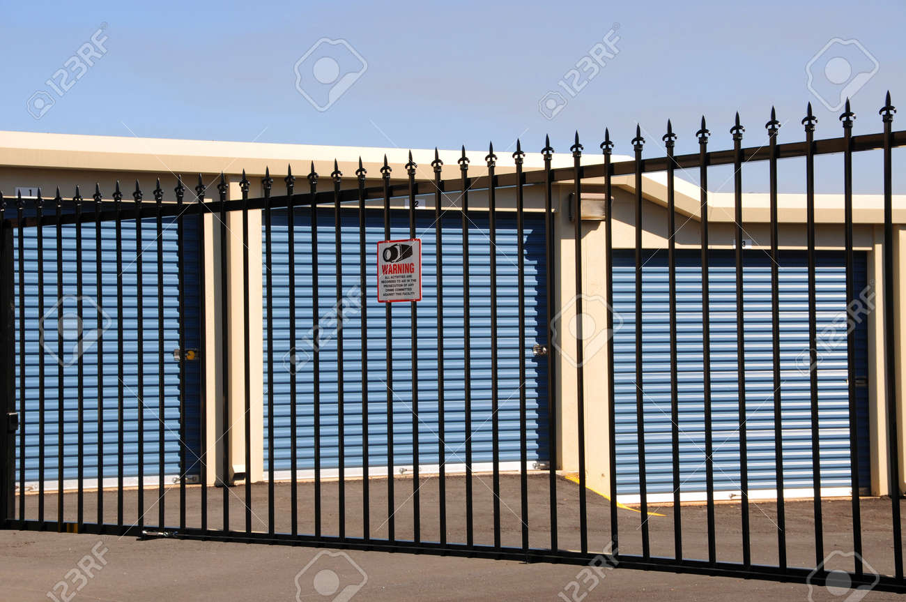 New Self Storage Units with Security Stock Photo - 4293256