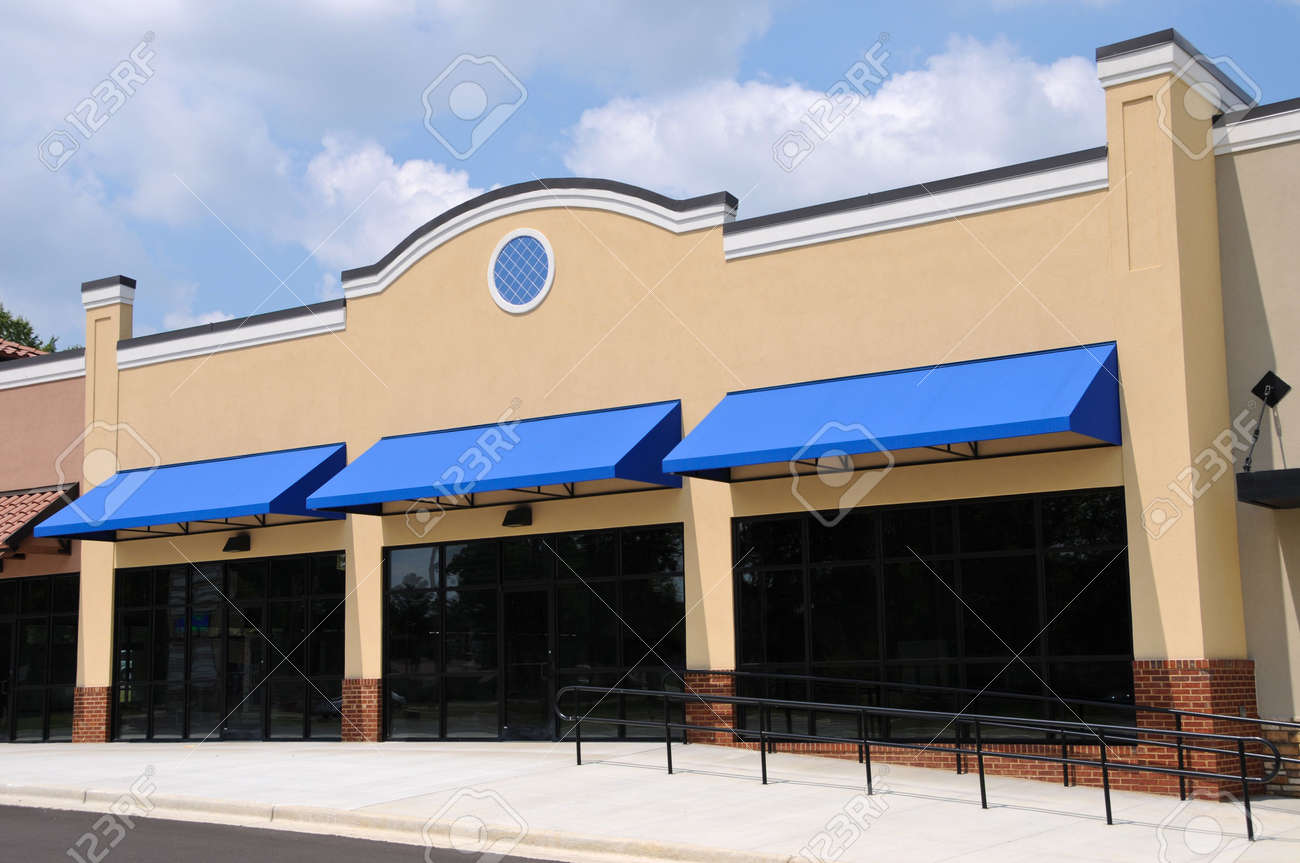 Store Front in a New Shopping Center Stock Photo - 5541570