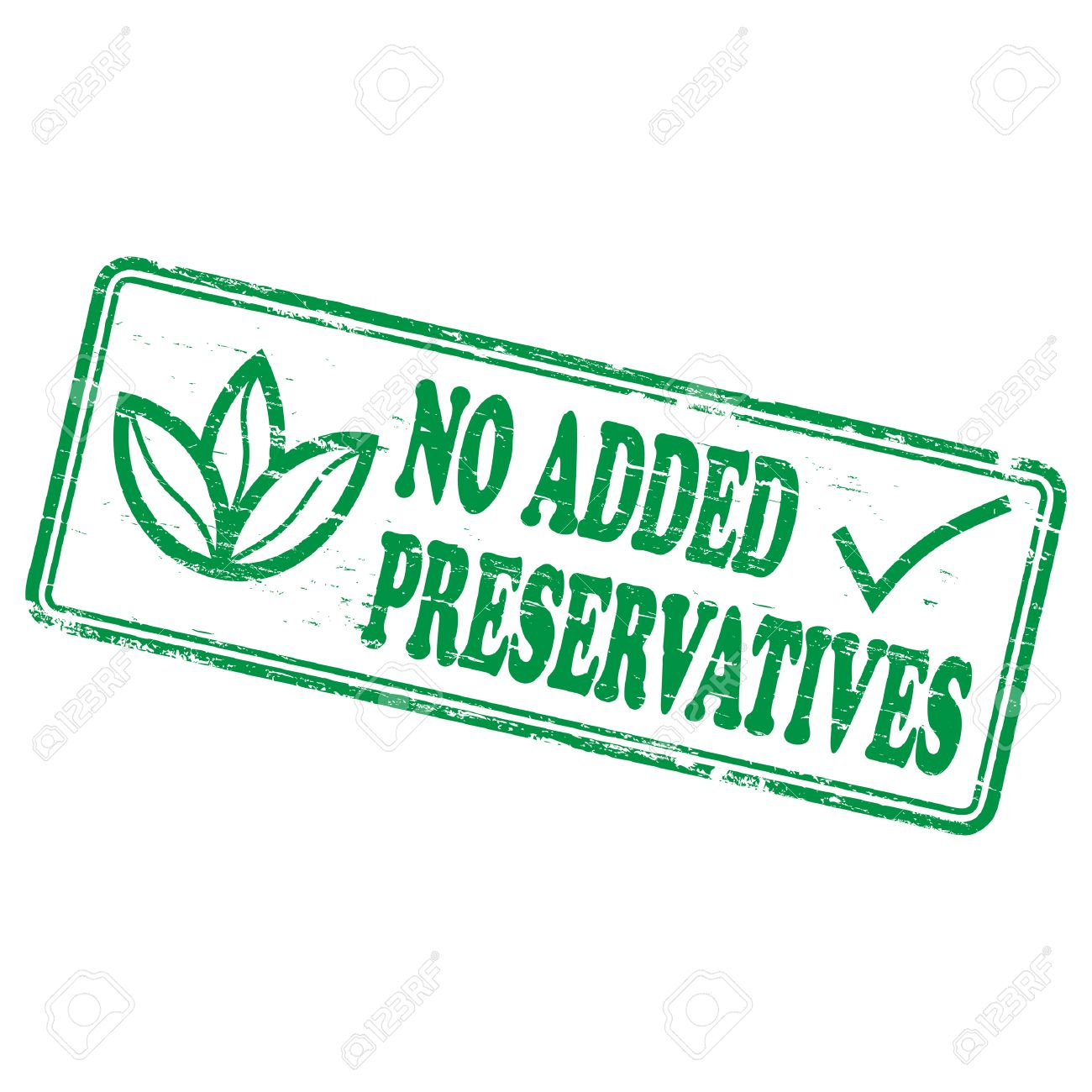 NO ADDED PRESERVATIVES Rubber Stamp Stock Vector - 8774800