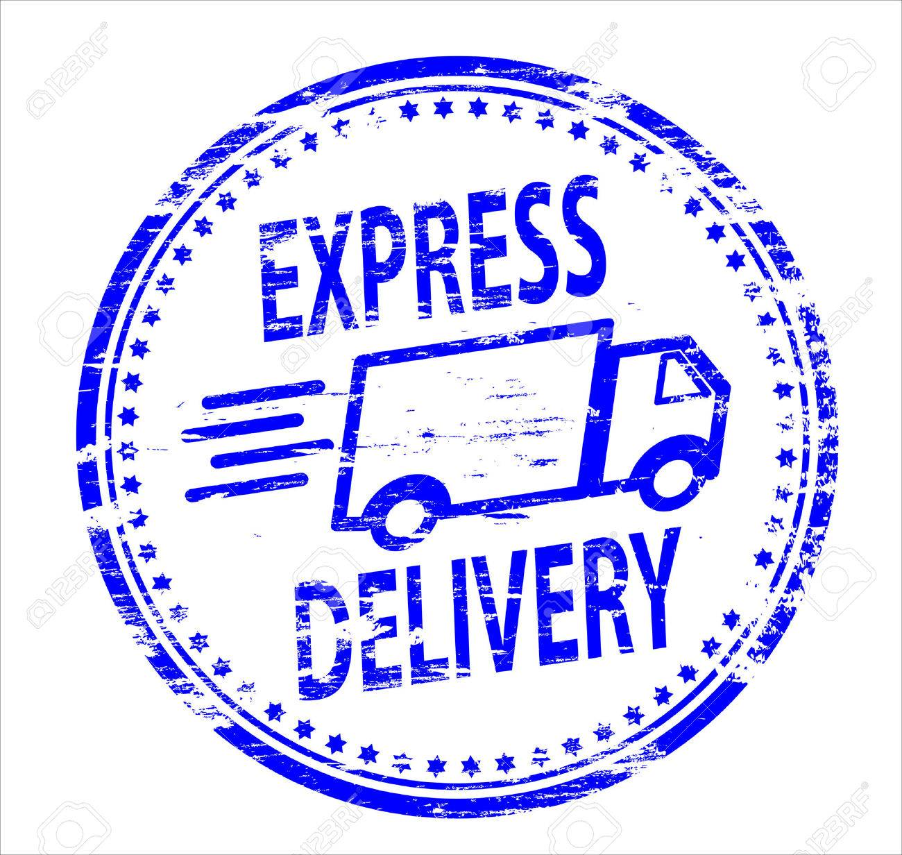 Express - Express Delivery Rubber Stamp Stock Vector 8985227