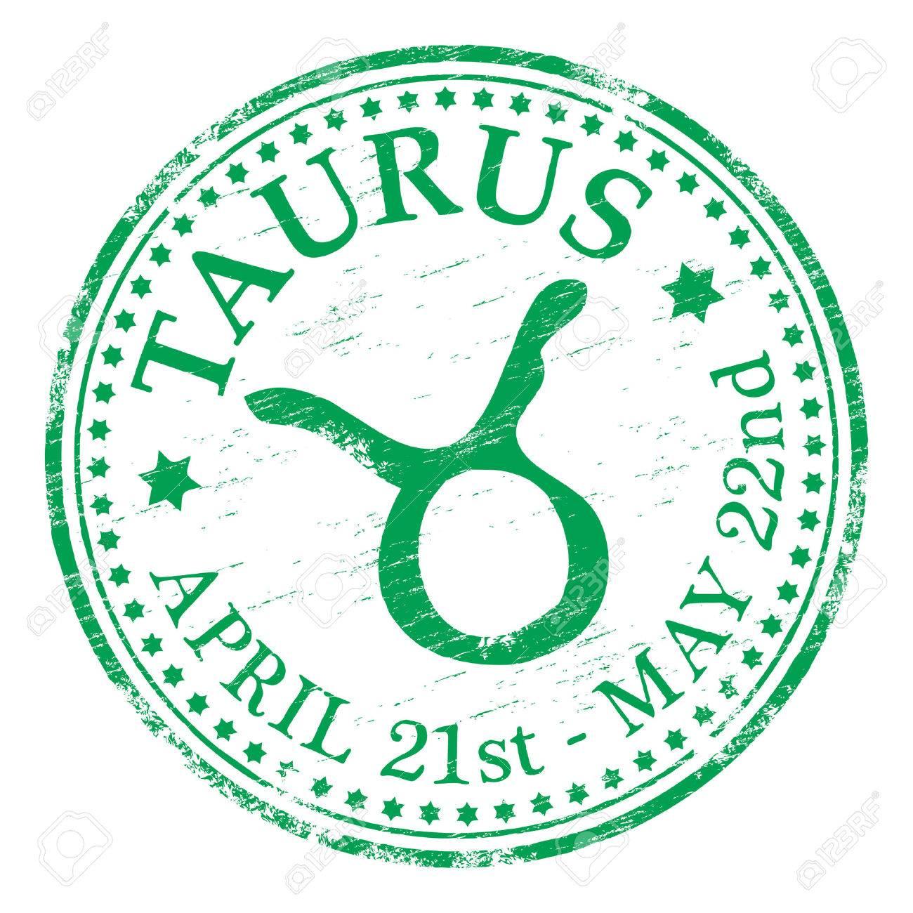 TAURUS Zodiac Rubber Stamp Stock Vector - 8984752