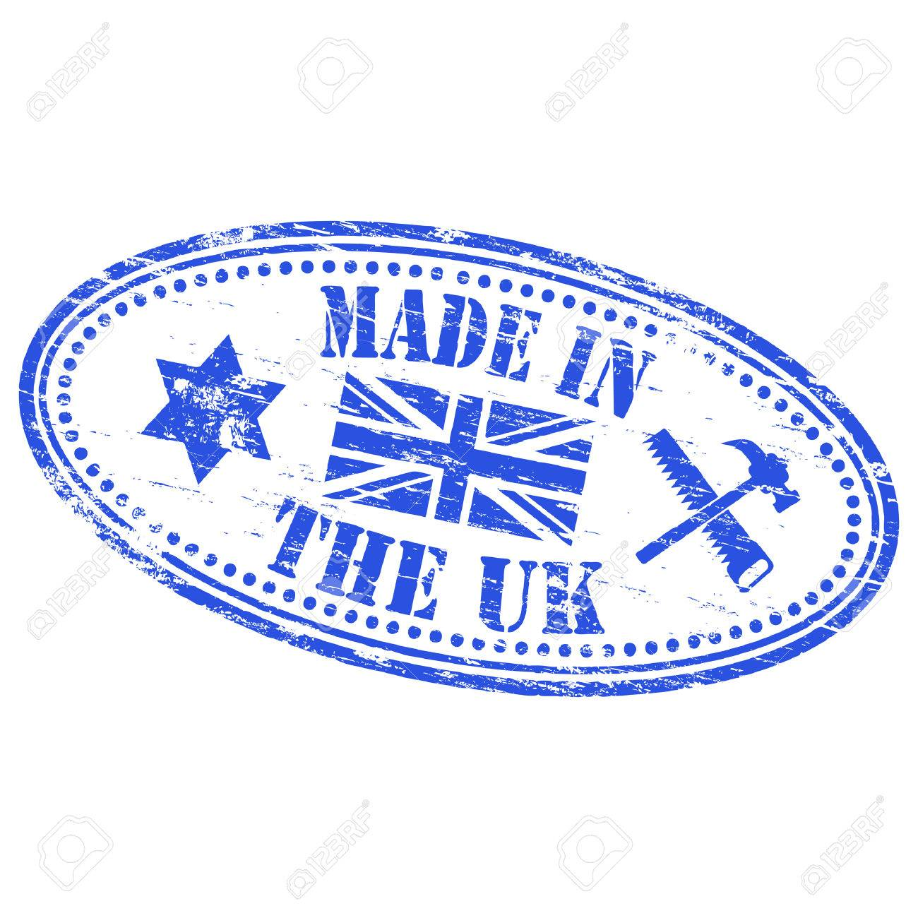MADE IN THE UK Rubber Stamp Stock Vector - 8986320
