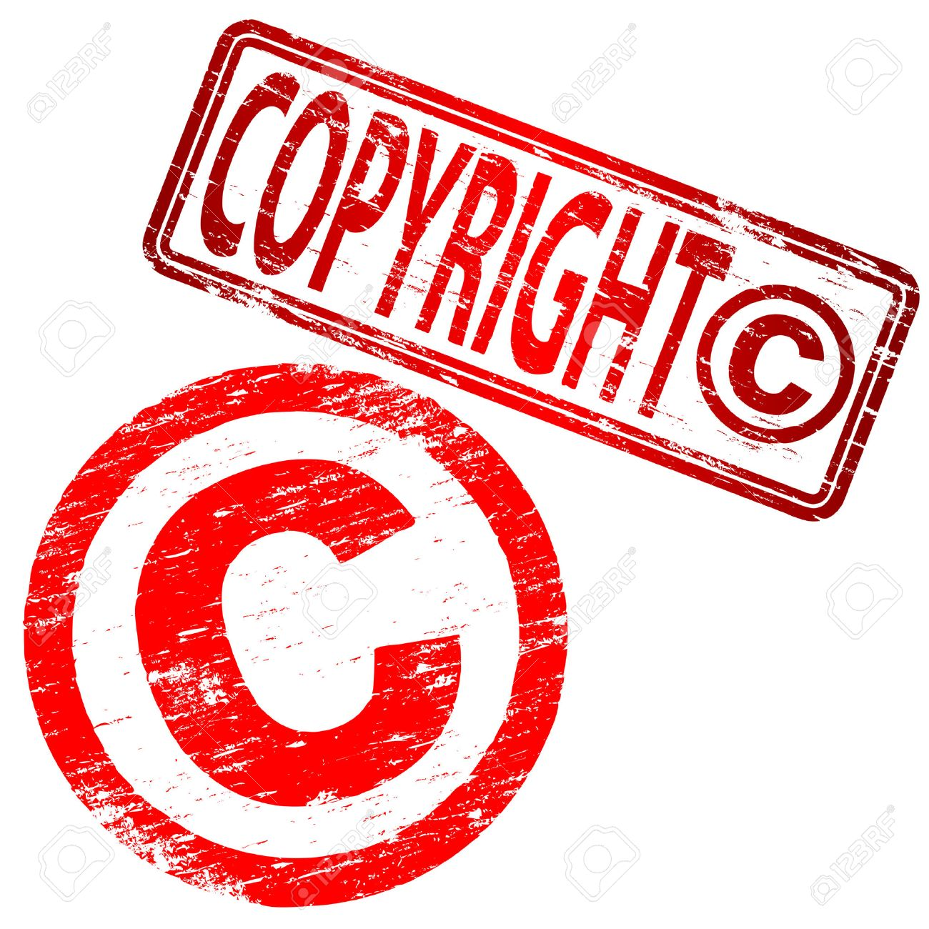 COPYRIGHT Grunge Rubber Stamps Stock Vector - 9068720