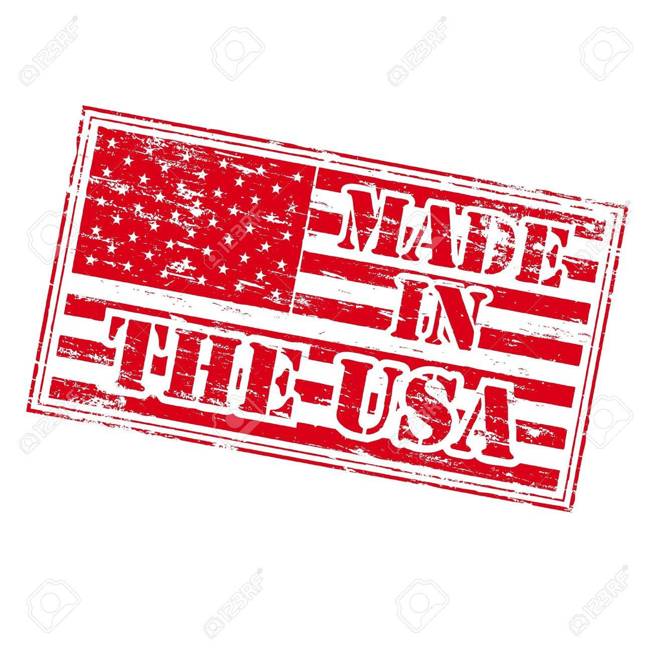 MADE IN THE USA Rubber Stamp Stock Vector - 10191339