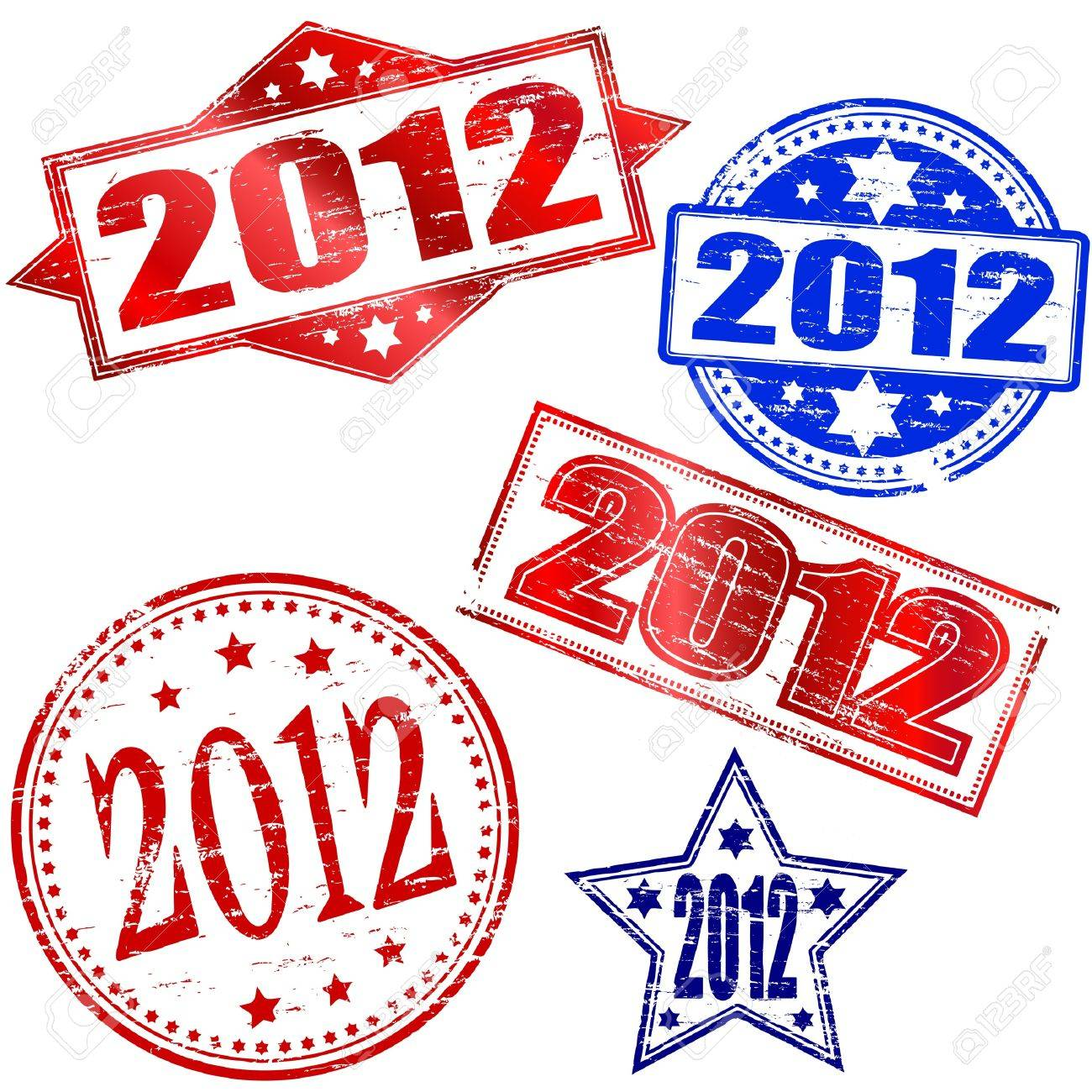 2012 Rubber stamp vectors Stock Vector - 11191459
