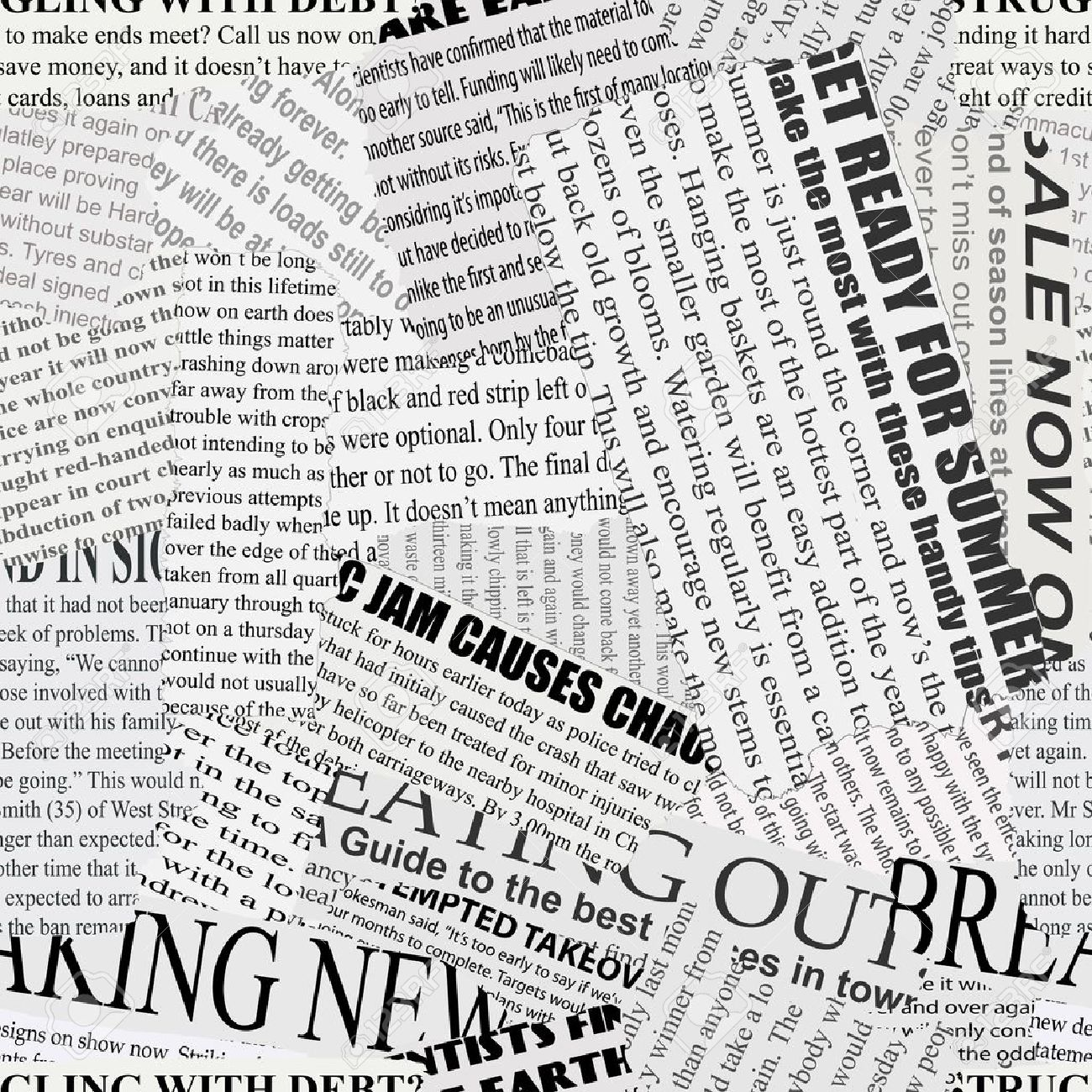 black and white repeating torn newspaper background royalty free