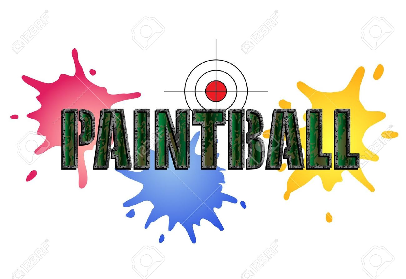 paintball logo in camouflage style with paint smears and target rh 123rf com paintball logos pictures paintball logos pictures